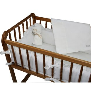 Comparison White Pique Cradle Bedding Set ByWendy Anne