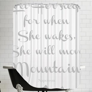 Let Her Sleep Mountains Single Shower Curtain