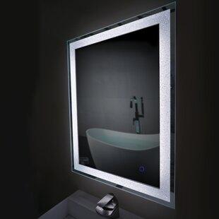 Online Reviews Bain Crystal Bathroom Mirror ByLatitude Run