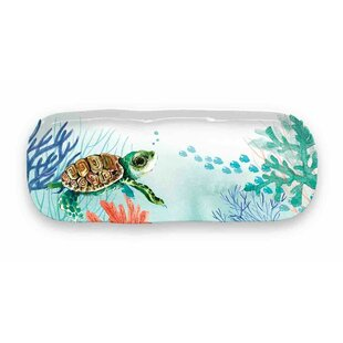Bolinger Turtle Appetizer Melamine Platter by Beachcrest Home