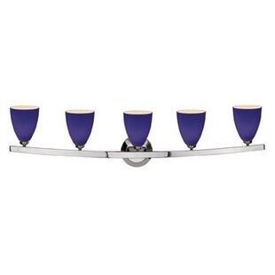 Ebern Designs Ferragamo 5-Light Vanity Light