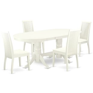 Drumrankin 5 Piece Extendable Solid Wood Dining Set