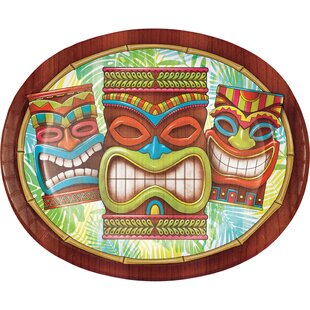 Tiki Time Oval Paper Dinner Plate (Set of 24)