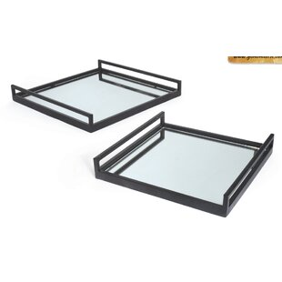 Fantastic Mercury Glass Tray | Wayfair NA67