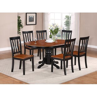 Spurling 7 Piece Drop Leaf Solid Wood Dining Set