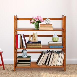 Winston Porter Weston 3 Shelf Folding Stackable Standard Bookcase