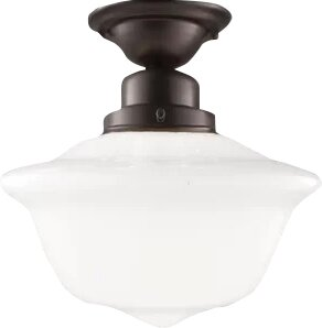Karen 1-Light Semi-Flush Mount by August Grove