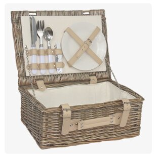 2 Person Fitted Picnic Basket By Brambly Cottage
