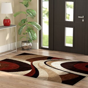 Compare prices Giannini Brown/Beige Area Rug By Ebern Designs