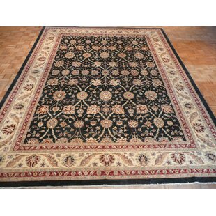 Order One-of-a-Kind Josephson Hand-Knotted Wool Black Area Rug ByCanora Grey