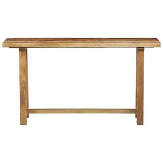 "Frida 60"" Soild Wood Console Table - Natural by One Allium Way SKU:BB822552 Details"