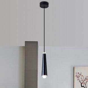 Brayden Studio Quaoar 1-Light LED Cone Pe..