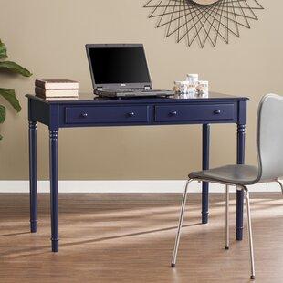 Beachcrest Home Vandever Farmhouse 2-Drawer Writing Desk - Navy