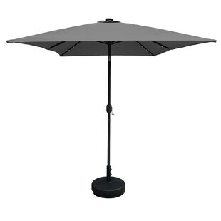 Horst 3m X 2m Rectangular Traditional Parasol With Lights By Sol 72 Outdoor