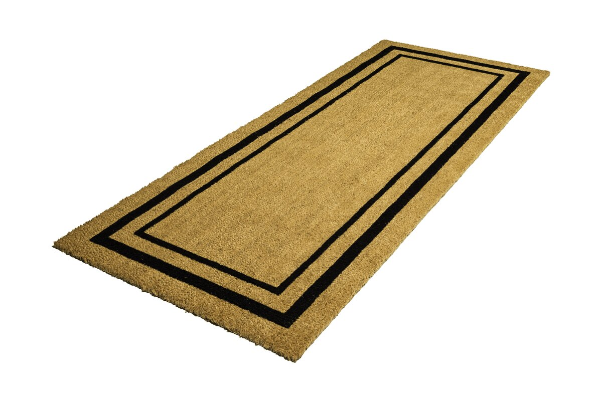 double doormat rugs outdoor touch decoir door patio solid cocoa and reviews mat awesome doors us of mats
