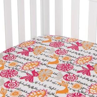 Buller Bird Print Fitted Crib Sheet