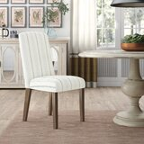Bob Stripe Upholstered Dining Chair (Set of 2) by Three Posts™