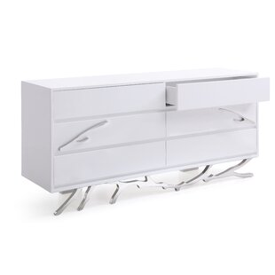 Frisina Modern 6 Drawer Double Dresser