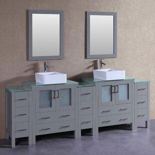 Lucia 96 Double Bathroom Vanity Set with Mirror
