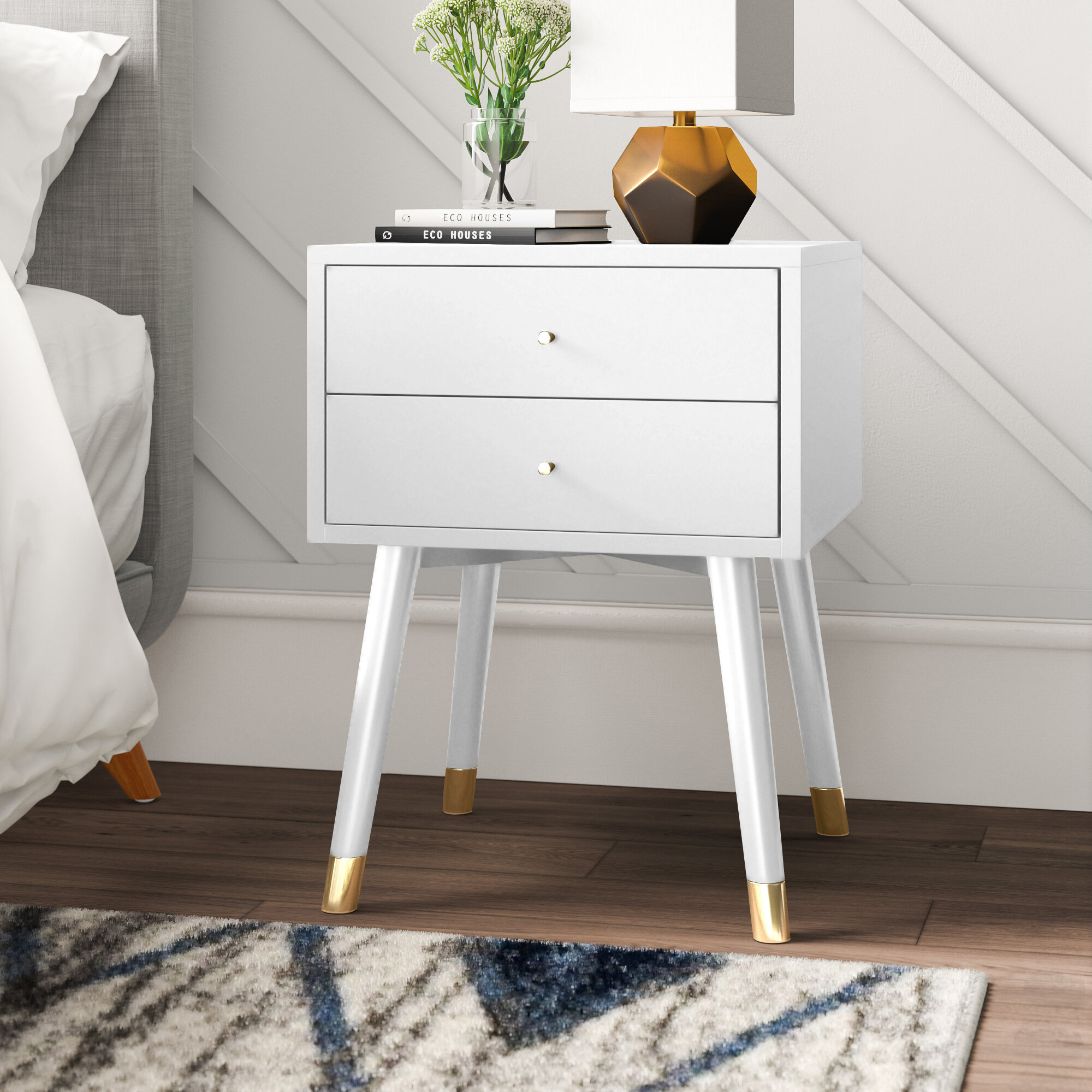 Mercury Row Lyla 2 Drawer Nightstand Reviews Wayfair