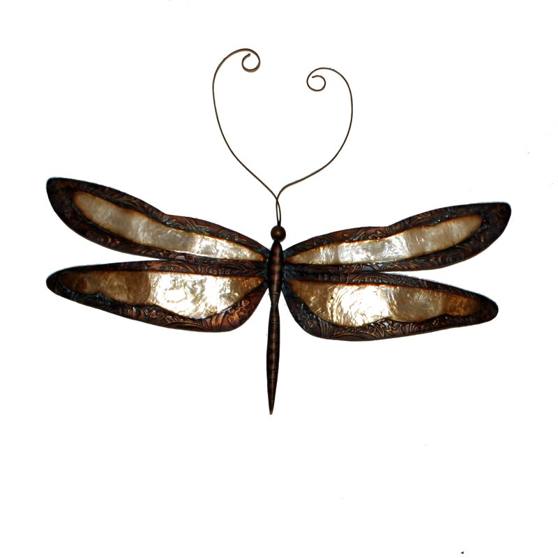 Earthtoned Dragonfly Wall Decor