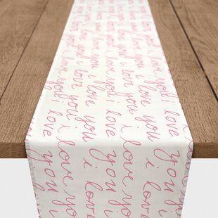 Fernandez I Love You Handwriting Table Runner