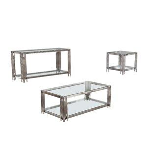Mercer41 Hardrick 3 Piece Coffee Table Set