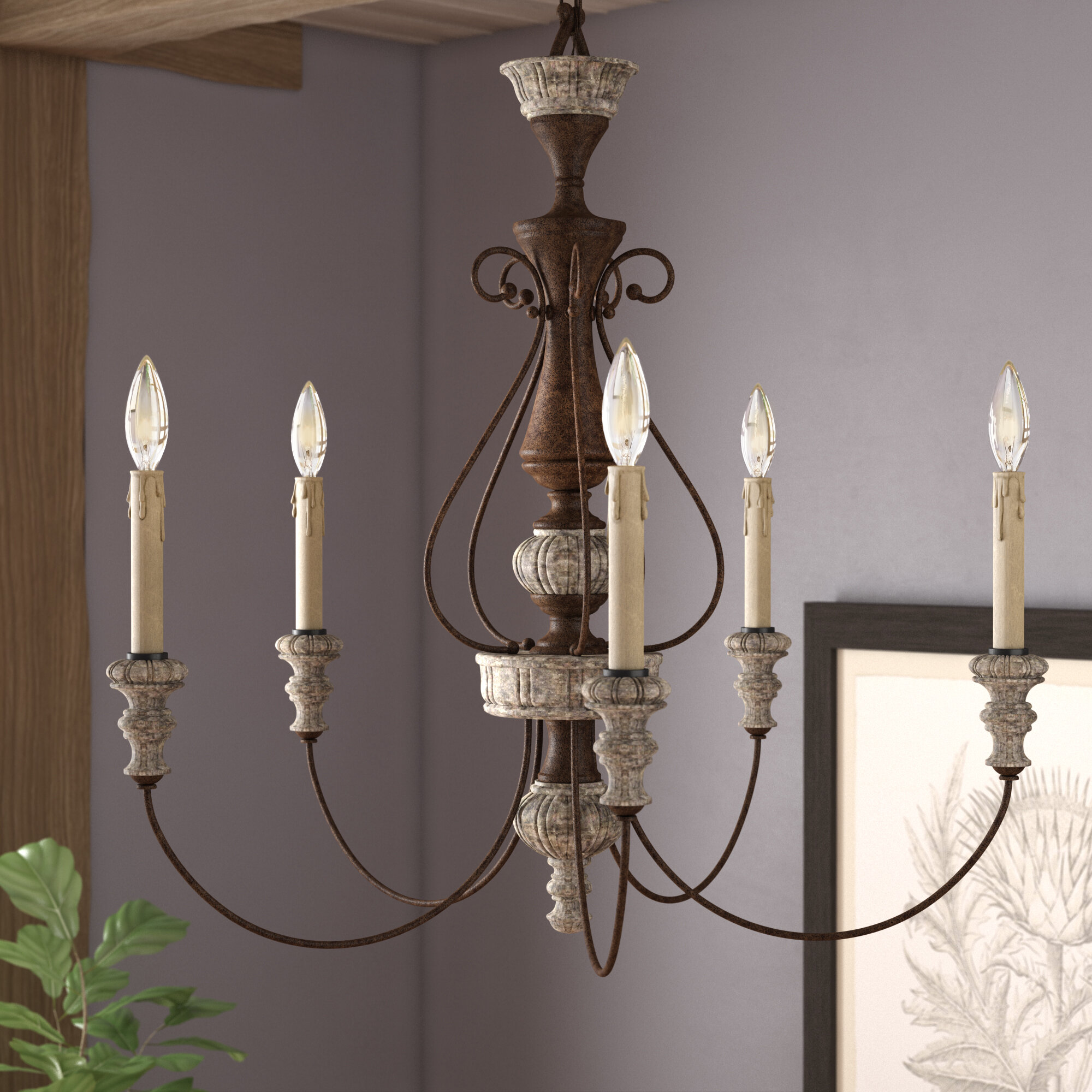 Shanae 5 Light Candle Style Clic Traditional Chandelier