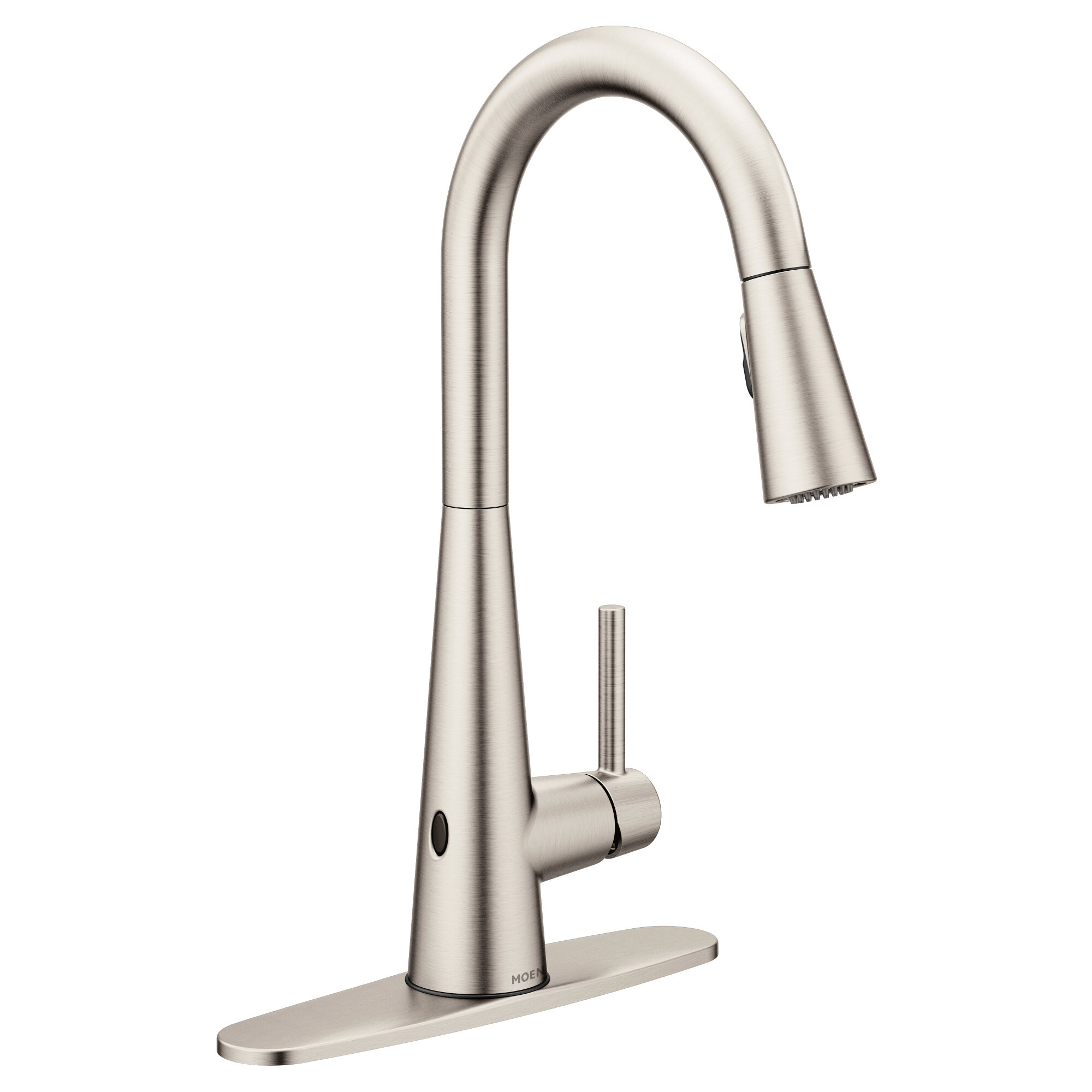 Moen Sleek Pull Down Touchless Single Handle Kitchen Faucet with ...