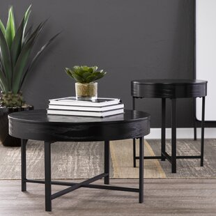 Best Price Ethel 2 Piece End Table Set with Storage by Latitude Run