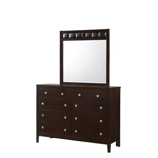 Fraser Home 10 Drawer Double Dresser with Mirror by Alcott Hill