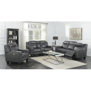 Brayden Studio Novice 3 Piece Reclining L..