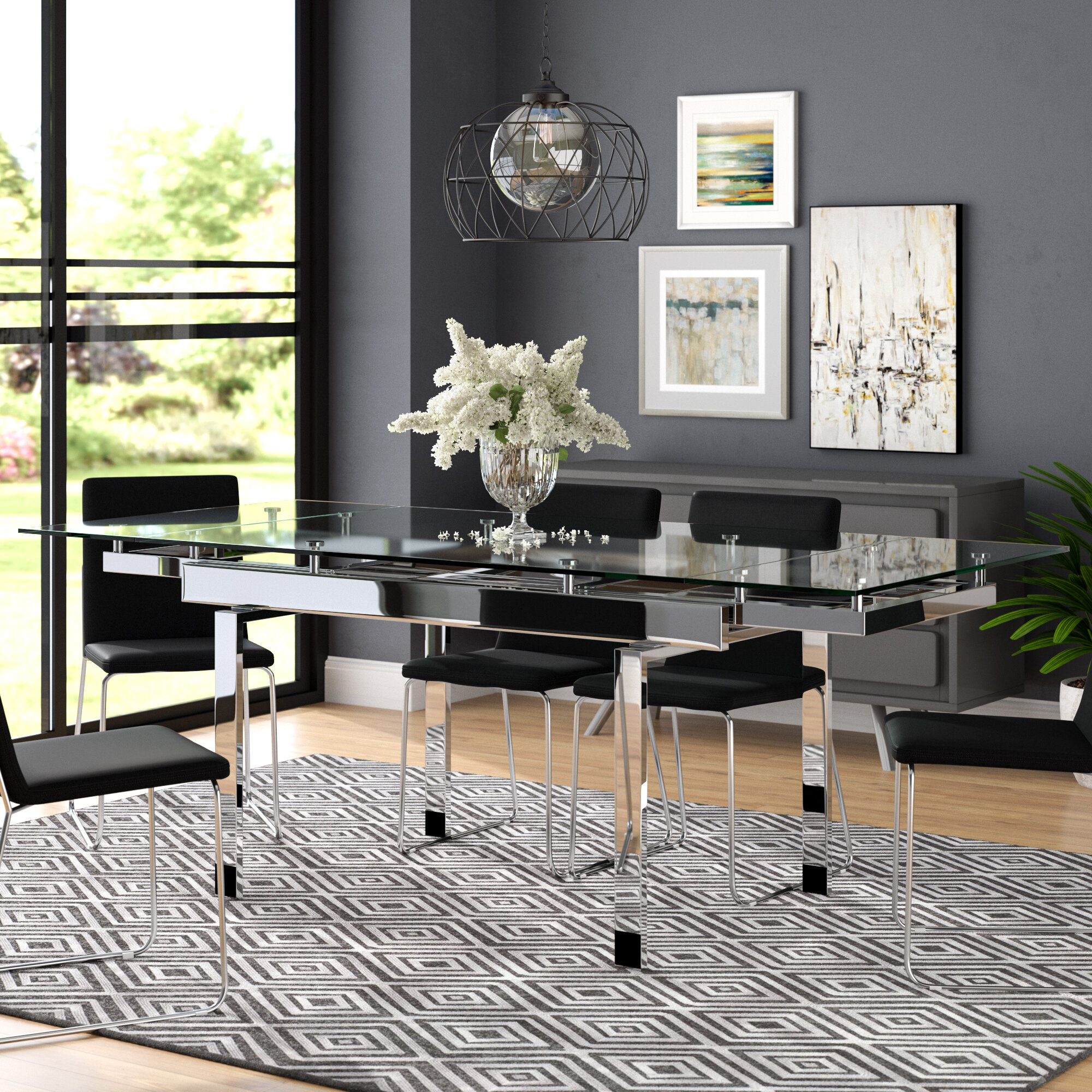 Extendable Glass Kitchen Dining Tables You Ll Love In 2020 Wayfair