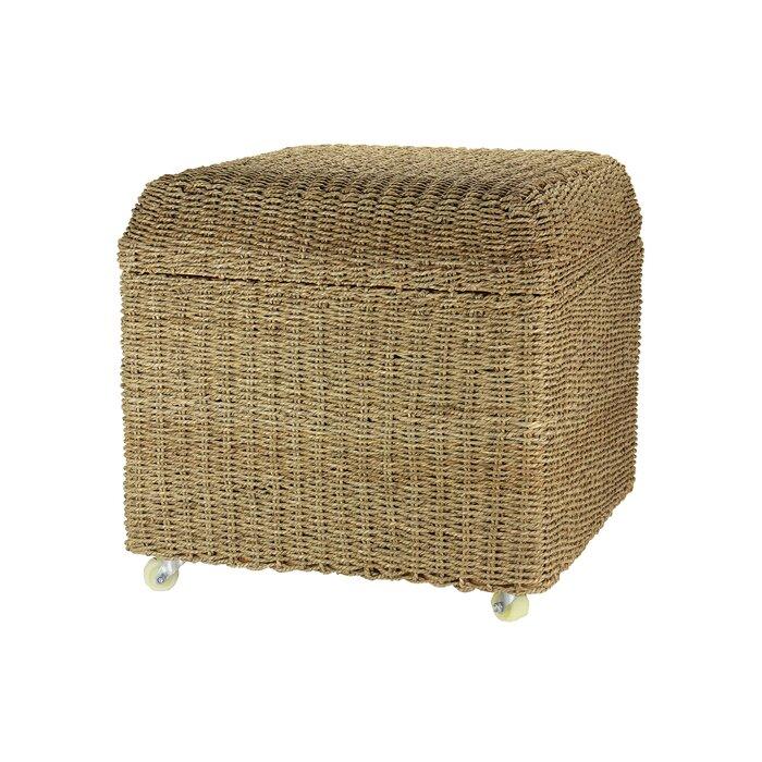 Remarkable Griffen Upholstered Rolling Storage Ottoman Ibusinesslaw Wood Chair Design Ideas Ibusinesslaworg