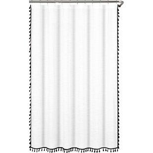 Angelia 100% Cotton Tassel Single Shower Curtain