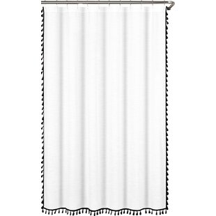 Everado 100 Cotton Tassel Shower Curtain