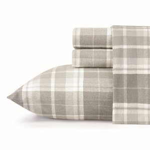 mulholland plaid flannel sheet set by laura ashley home
