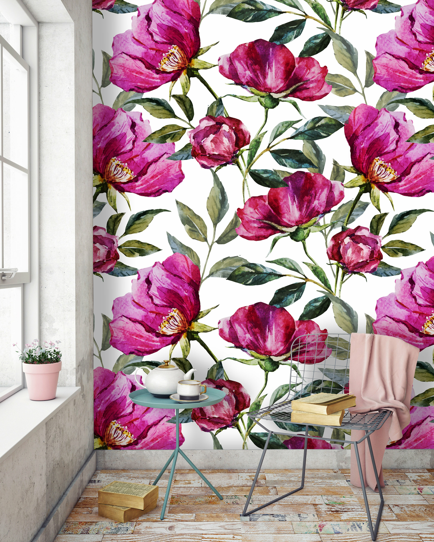 House Of Hampton Calvert Removable Poppy Floral 8 33 L X 100 W