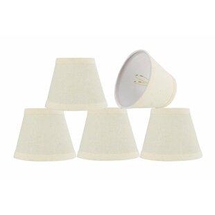 Modern 5'' Fabric Empire Lamp Shade (Set of 5)