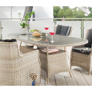 Sandefur Polyrattan Dining Table By Sol 72 Outdoor