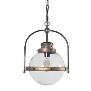 Holder 1-Light Globe Pendant by Breakwater Bay