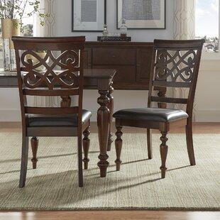 Fleur De Lis Living Leopoldo Armless Upholstered Dining Chair (Set of 2)