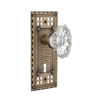 Chateau Passage Door Knob with Craftsman Plate by Nostalgic Warehouse