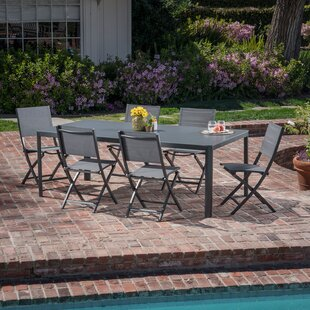 Latitude Run Ferris 7 Piece Outdoor Patio Dining Set