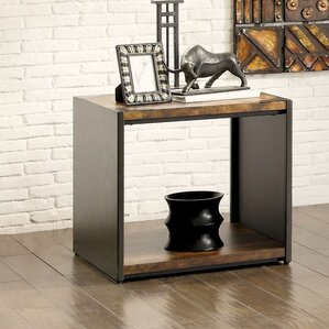 Bourget Transitional End Table by 17 Stories