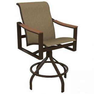 Brazo Sling Swivel Patio Bar Stool