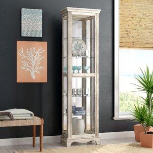 Beachcrest Home Davie Weathered Standard Curio Cabinet
