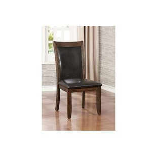 Epperson Wooden Upholstered Dining Chair (Set of 2)