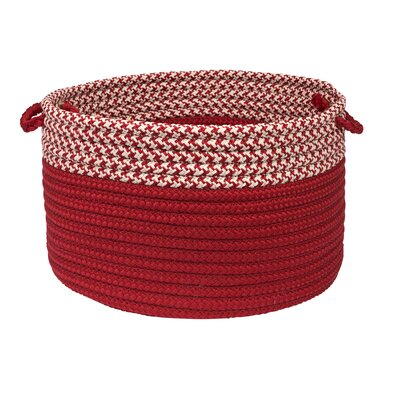 Brayden Studio Ariadne Dipped Basket Color: Red, Size: 14 H x 24 W x 24 D