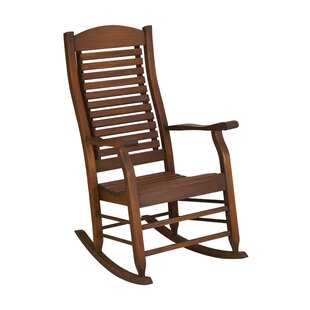 Loon Peak Mossman Slat Back Rocking Chair
